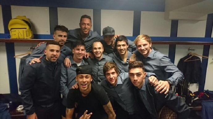 BLOG: Nas redes sociais, jogadores do Barcelona comemoram goleada sobre o Real