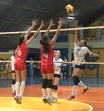 Jotas x AABB campeonato acreano de vôlei adulto feminino (Foto: Reprodução/TV Acre)