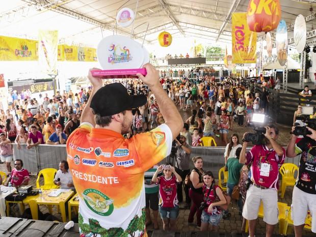 Aliança levou pela quarta vez o título de campeã do carnaval de Joaçaba (Foto: André Arcênio)