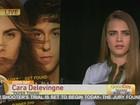 Cara Delevingne é criticada por mau humor em entrevista na TV dos EUA