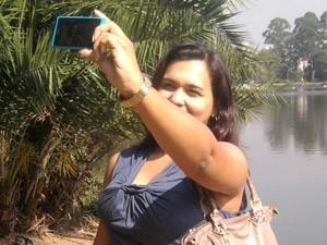 foto celular retrato (Foto: Luciana de Oliveira/G1)
