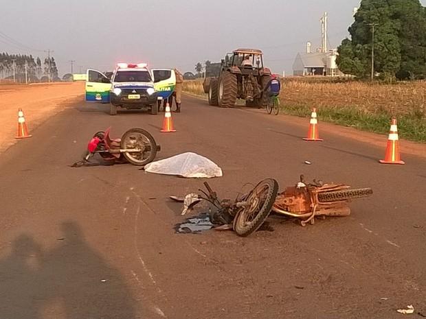Acidente aconteceu quanto catador entrava em linha rural (Foto: Extra de Rondônia/ Reprodução)