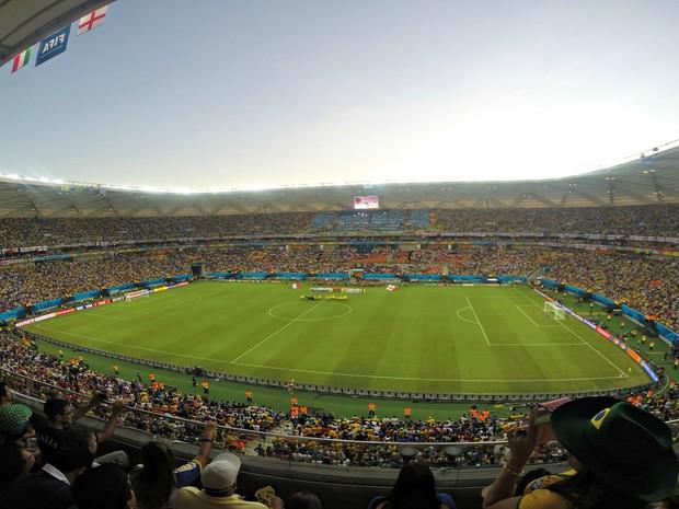 Em Manaus, a Arena da Amazônia recebe quatro jogos do mundial (Foto: Marina Souza/G1 AM)