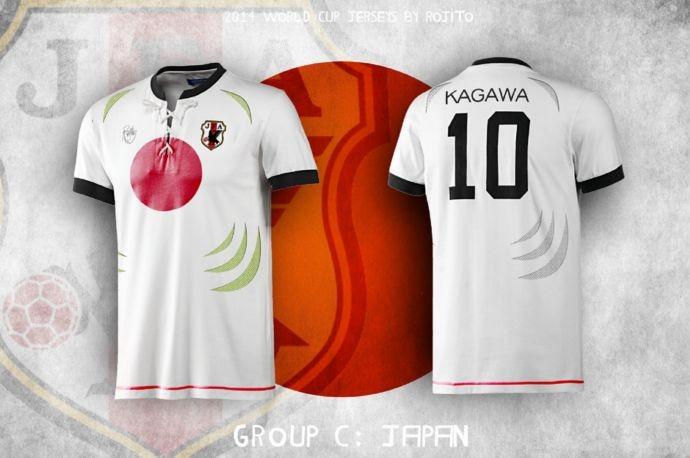 Blog da Copa - design camisa do Japão