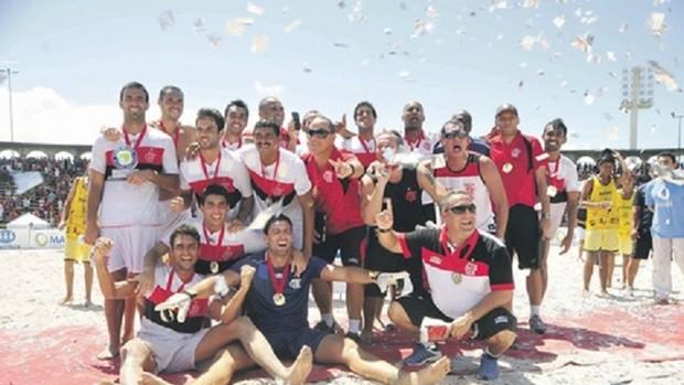 Flamengo é o atual campeão da Copa Brasil de futebol de areia (Foto: Divulgação / MPC Rio Comunicação)