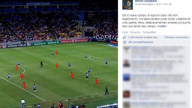 kleber gladiador facebook impedimento (Foto: Reprodução)