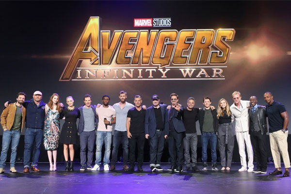 Parte do elenco de Vingadores: Guerra Infinita (2018) (Foto: Getty Images)