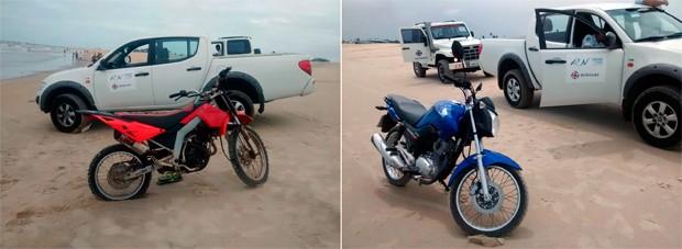 Condutores de duas motos, que estavam sem a documentação obrigatória, também foram notificados e os veículos recolhidos ao pátio do Detran (Foto: Tenente da PM Isaac Paiva)