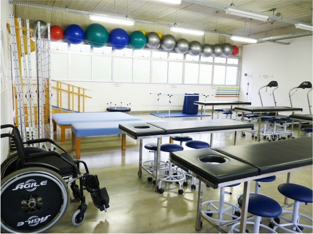 Laboratório de fisioterapia (Foto: Divulgação/ Kempton Vianna)