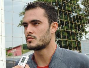 Eder Sales, centroavante do Grêmio Prudente (Foto: João Paulo Tilio / Globoesporte.com)