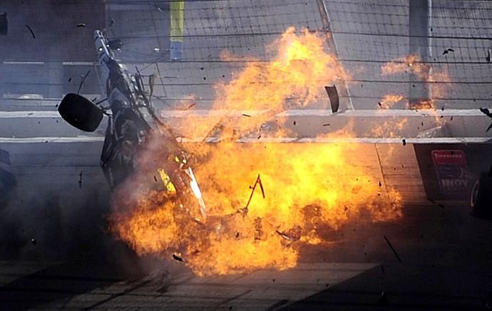 Dan Wheldon Fórmula Indy acidente Las Vegas (Foto: Getty Images)