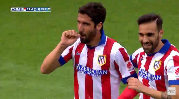 BLOG: Bomba de fora da área: Raúl Garcia marca em triunfo do Atlético de Madrid