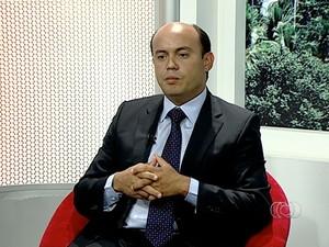 Sandoval Cardos, do SD, em entrevista no JA 1 (Foto: Reprodução/TV Anhanguera)