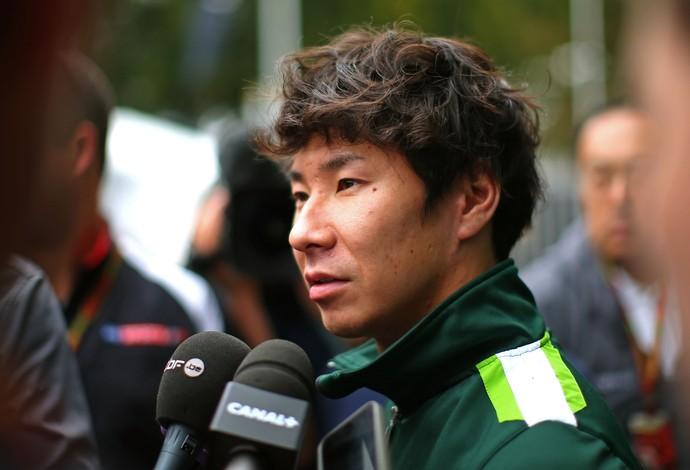 O japonês Kamui Kobayashi diz que não sabe sobre seu futuro na Caterham (Foto: Getty Images)