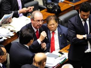 O líder do PMDB, Eduardo Cunha (RJ), derrotado durante votação da MP dos Portos na Câmara (Foto: Gustavo Lima/Ag. Câmara)
