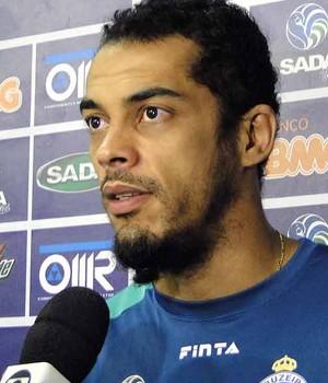 Acácio, jogador de vôlei do Cruzeiro (Foto: Gabriel Medeiros / Globoesporte.com)