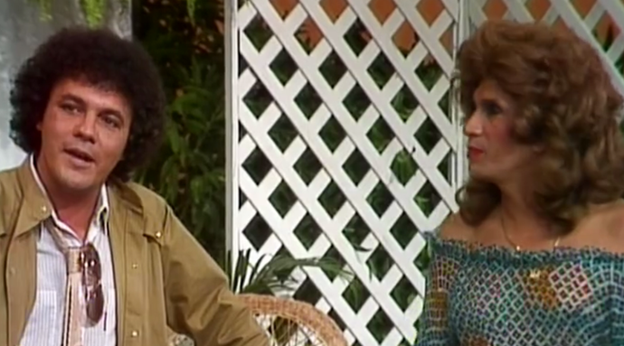 Wanderley Cardoso em 'Os Trapalhões' (Foto: Tv Globo)