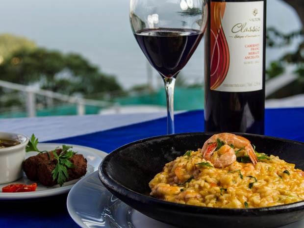 Risoto de camarão puxado no arroz arbóreo e parmesão, do restaurante Ao Mirante (Foto: Ivy Freitas/Festival Gastronômico)