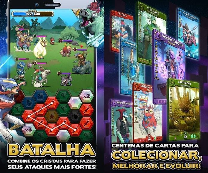 Cardgame e puzzle com folclore latino e localização para o português (Foto: Divulgação)