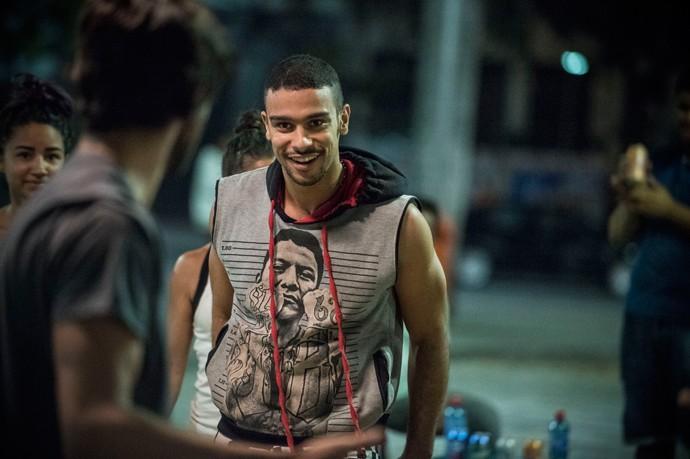Jacaré usa estilete em briga (Foto: Raphael Dias / Gshow)