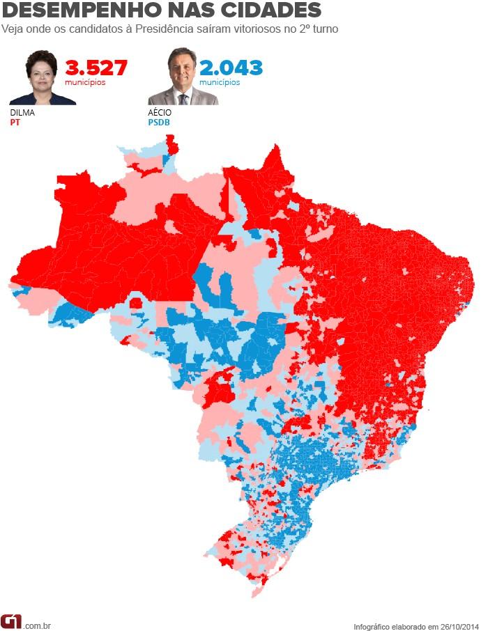 Mapa por município
