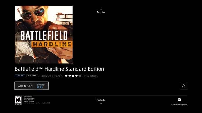 Adicione Battlefield: Hardline ao carrinho (Foto: Reprodução/Murilo Molina)