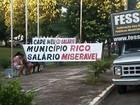 Em protesto, servidores municipais pedem reposição salarial de 11,6%