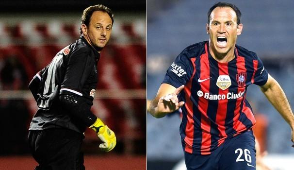 Rogerio Ceni x Mauro Matos- Libertadores  (Foto: Divulgação)