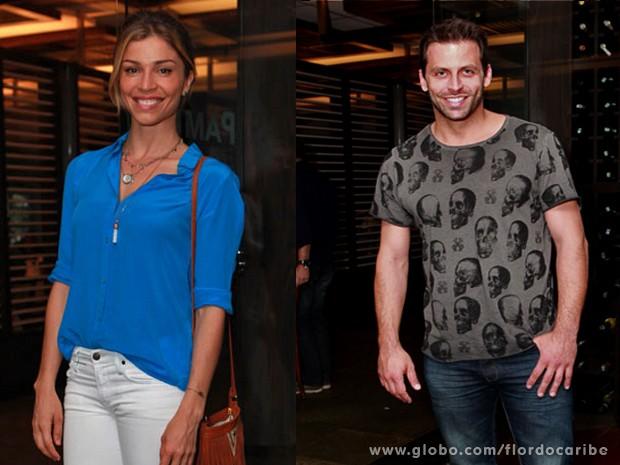 Grazi e Henri se despedem de Ester e Cassiano (Foto: Flor do Caribe/TV Globo)