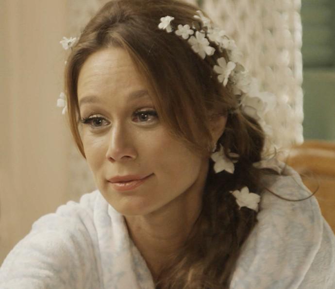 Tancinha se emociona com as palavras da irmã (Foto: TV Globo)