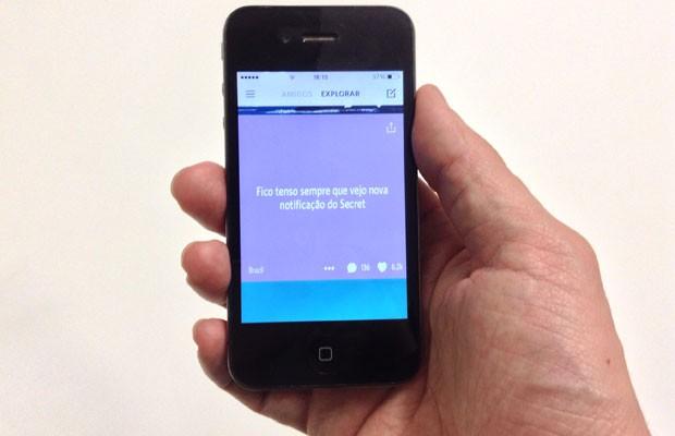 App de mensagens anônimas 'Secret' vira hit no Brasil. (Foto: Foto:G1)