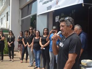 Pedro Nazareno, presidente do Sindsep-AC (Foto: Veriana Ribeiro/G1)