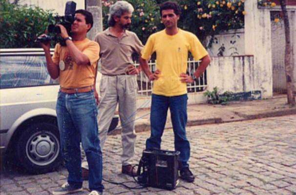 Elias Coutinho começou na TV Rio Sul na função de cinegrafista (Foto: Elias Coutinho/ Arquivo Pessoal)