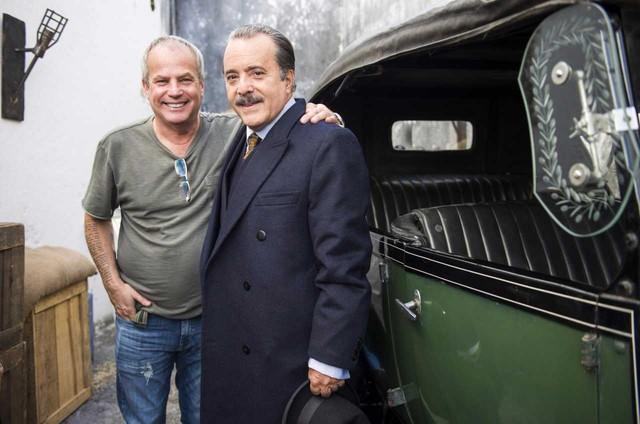 Jayme Monjardim e Tony Ramos (Foto: Globo/ João Miguel Júnior)