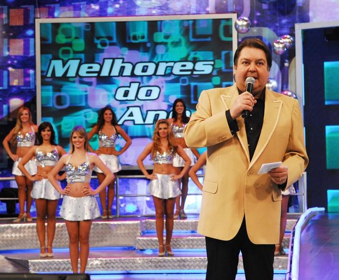Faustão comanda o Melhores do Ano 2008 (Foto: Cedoc / TV Globo)