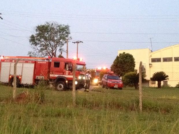 Incêndio ocorreu na tarde desta segunda-feira (12) (Foto: Wellington Roberto/G1)
