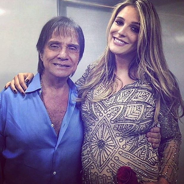 Rafa Brites com Roberto Carlos (Foto: Reprodução/Instagram)