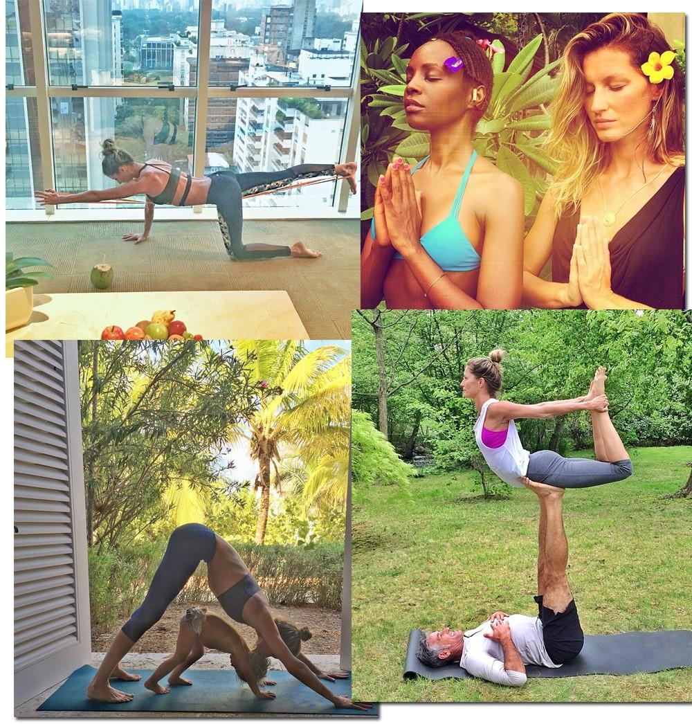 Registros de meditação e de ioga (até com a pequena Vivian Lake) são comuns entre as postagens da übertop (Foto: Reprodução/Instagram)