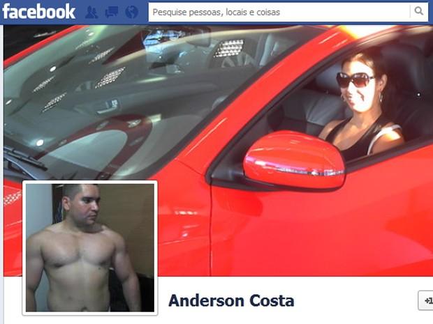 Jaqueline está na foto de fundo do Facebook de Anderson, onde ele postou uma carta em homenagem (Foto: Reprodução / Facebook)