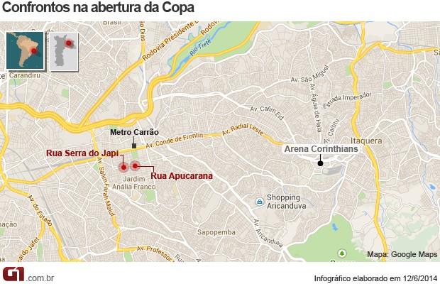 Mapa dos confrontos contra a Copa do Mundo (Foto: Editoria de Arte/G1)