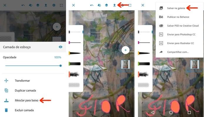 Imagem criada no Photoshop Sketch salva como JPEG no celular (Foto: Reprodução/Raquel Freire)