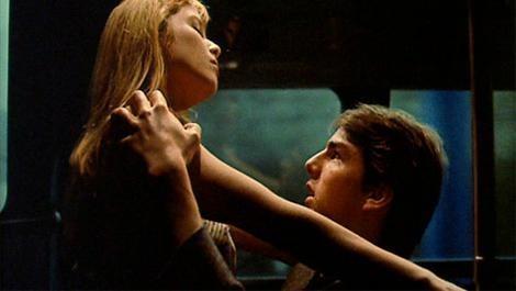 Tom Cruise e Rebecca De Mornay (Foto: Divulgação)