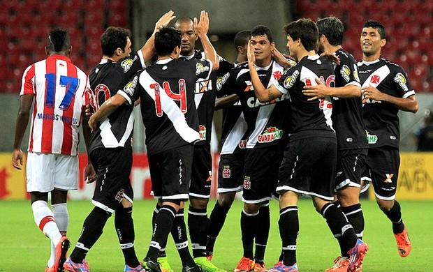 Dakson comemoração no jogo Vasco x Náutico (Foto: Marcelo Sadio / Site Oficial do Vasco)