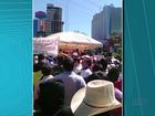Palco cai e deixa várias pessoas feridas em manifestação no Paraguai