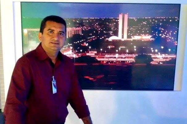 Marcos Teixeira participa de intercâmbio sobre cobertura política na Globo Brasília (Foto: Arquivo Pessoal)