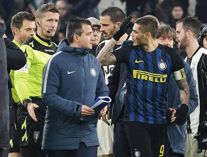 Icardi Nicola Rizzoli Inter de Milão Juventus (Foto: EFE)