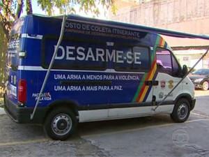 Em PE, campanha ganha posto de coleta móvel (Foto: Reprodução / TV Globo)
