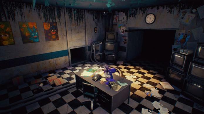 Por ser totalmente em 3D o escritório de Five Nights at Freddys 2 pode ser visto por ângulos diferentes (Foto: Reprodução/Kotaku)