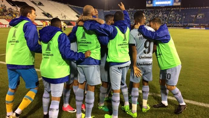 Guarani-PAR x Grêmio Defensores del Chaco Libertadores gol Pedro Rocha (Foto: Eduardo Moura / GloboEsporte.com)