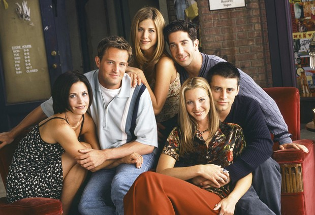 Friends: Courteney Cox, Matthew Perry, Jennifer Aniston, David Schwimmer, Lisa Kudrow e Matt LeBlanc (Foto: Reprodução)